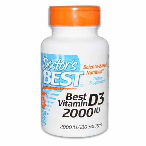 DOCTORS BEST VITAMIN D3 2,000 IU 180 sofgelových tabliet